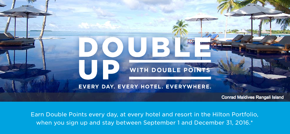 Double Up with Double Hilton HHonors Points (Sep-Dec 2016) | Photo Credit: Hilton