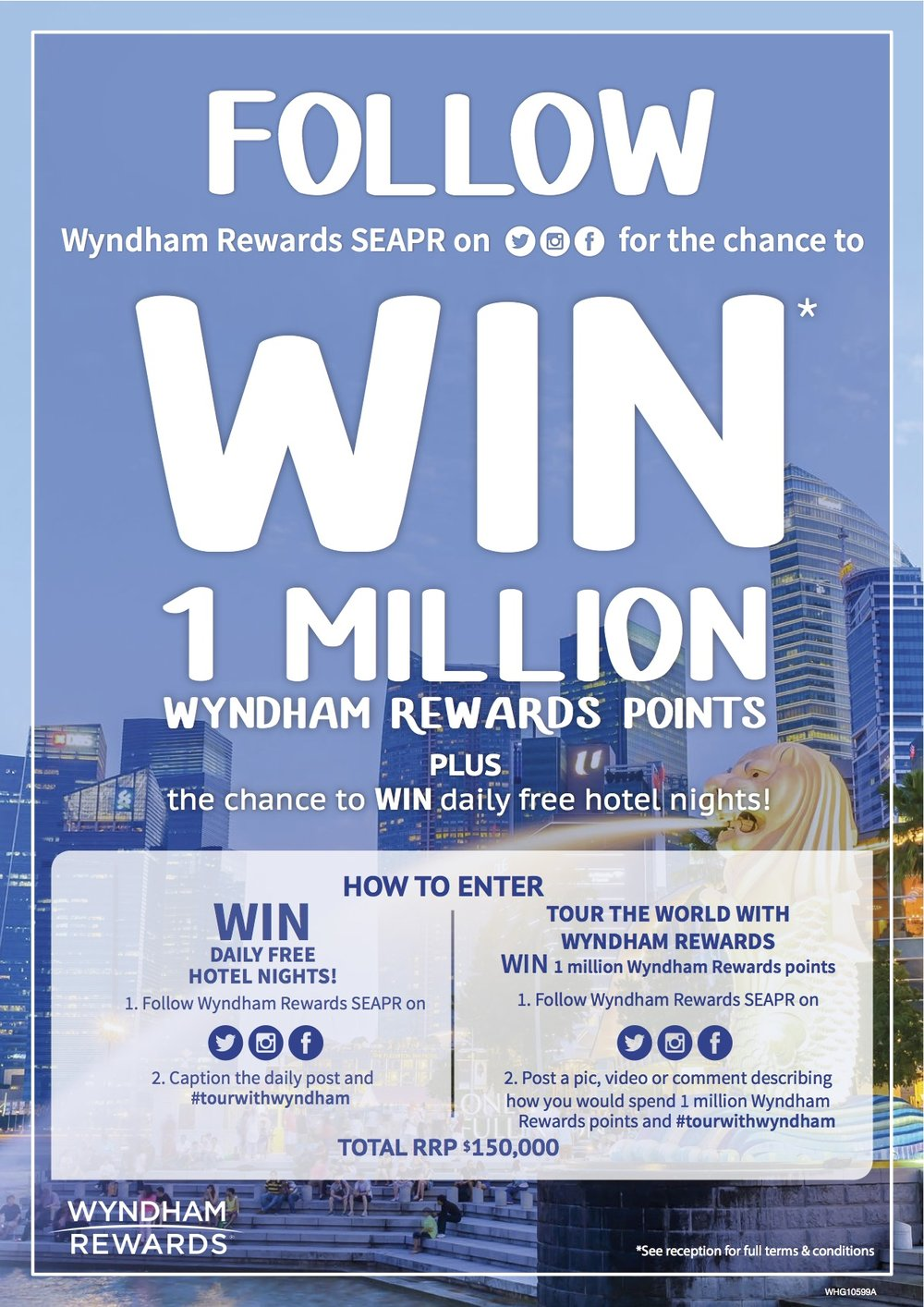 Win A Million Wyndam Rewards Points | Photo Credit: Wyndham Hotel Group