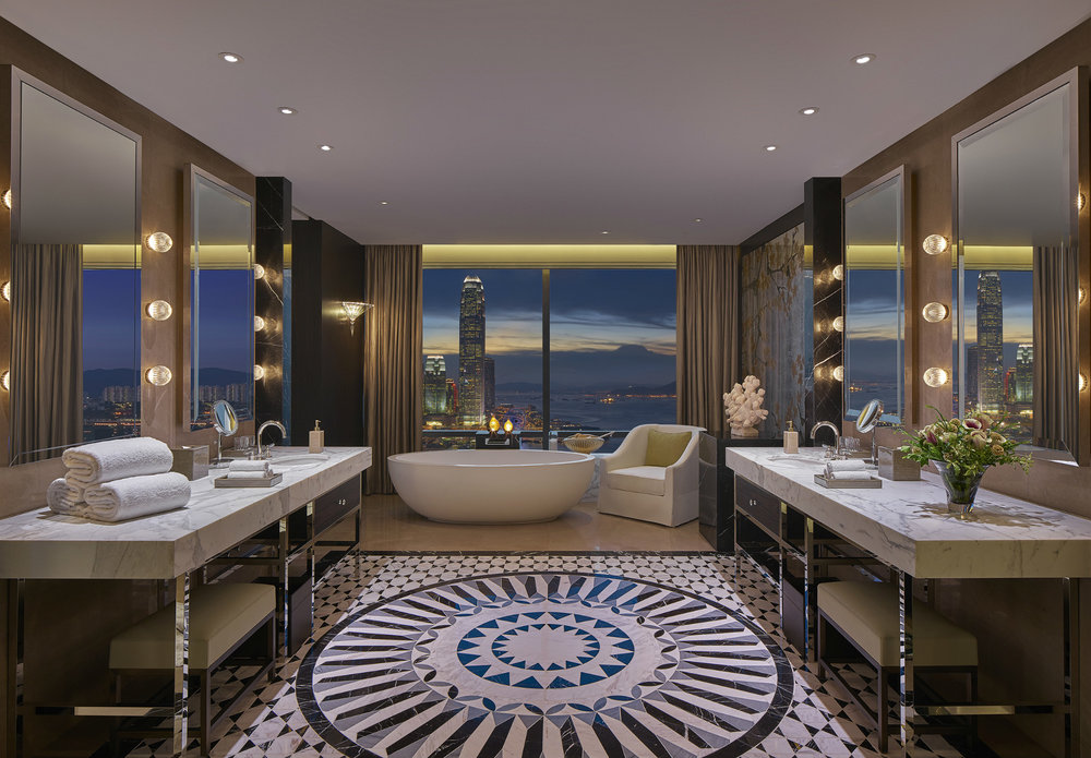 Bathroom in Presidential Suite | Photo Credit: Grand Hyatt Hong Kong