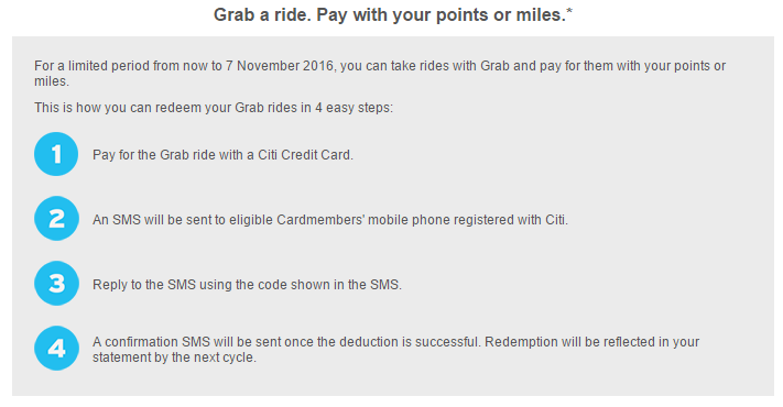 Pay for Grab Rides with Citi Miles and Points | Photo Credit: Citibank