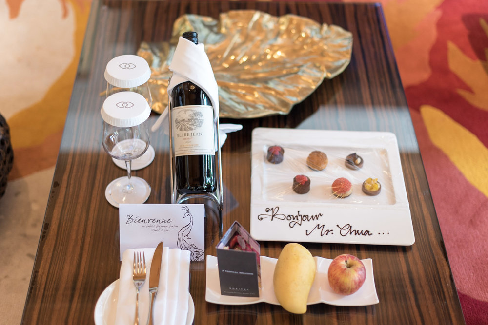 Welcome Amenities in Living Room Villa du Jardin - Sofitel Singapore Sentosa Resort & Spa