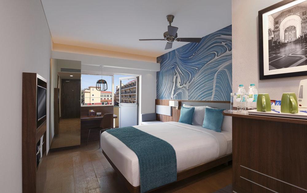 Bedroom | Photo Credit: ibis Styles Goa Calangute