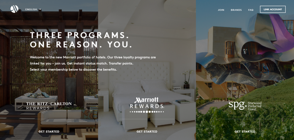 Integration of Marriott Rewards and SPG