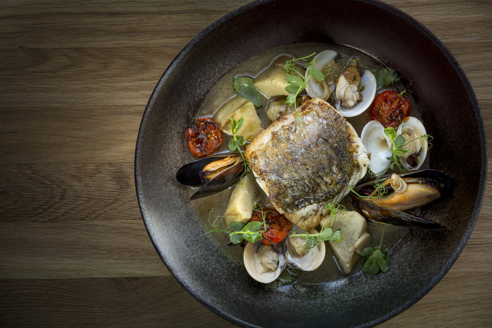 Wild Sea Bass at Opus Bar & Grill | Photo Credit: Hilton Singapore