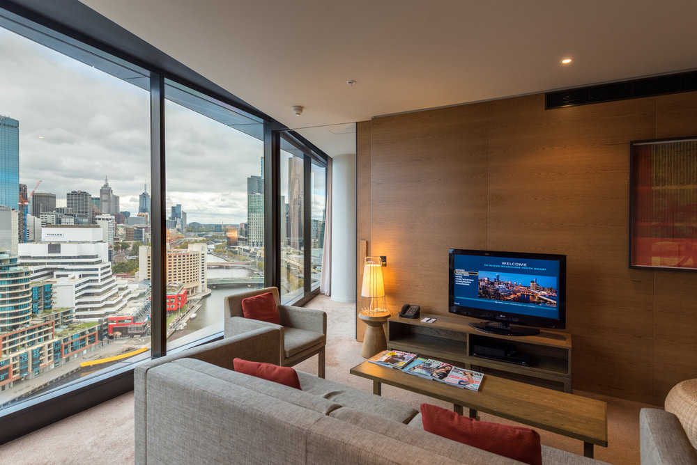 Living Room  Relaxation Suite - Hilton Melbourne South Wharf