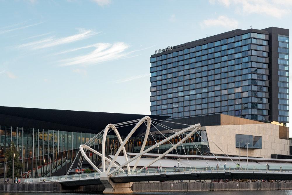 Hotel Exterior and Façade  Hilton Melbourne South Wharf
