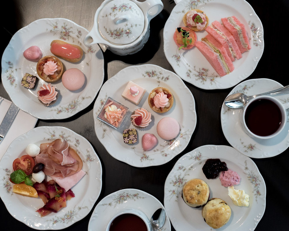 English Afternoon Tea with Pink Treats  (in Support of Breast Cancer Awareness) L'Espresso - Goodwood Park Hotel