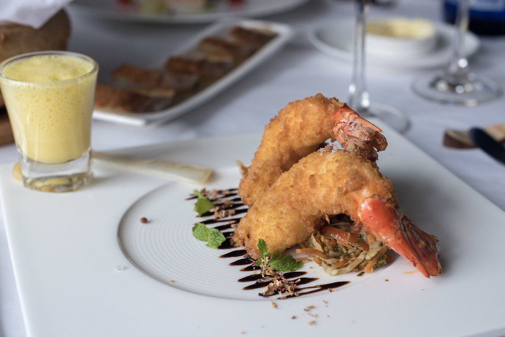 Crispy River Prawns with Green Tea Lahpet Salad     Gourmet by Le Planteur -    Yangon, Myanmar