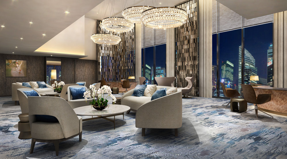 Lobby Reception | Photo Credit: Oakwood Premier OUE Singapore