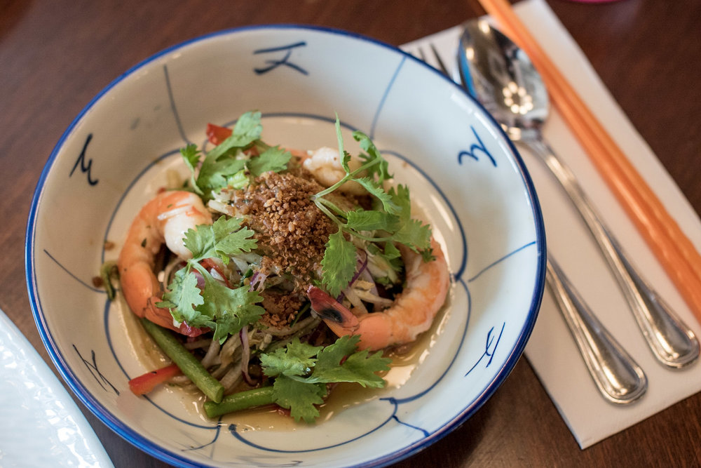 Green Papaya and Prawn Salad with Long Bean and Tamarind Set Lunch - Ding Dong
