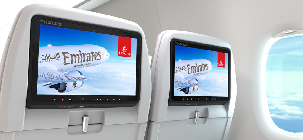 Thales AVANT Inflight Entertainment System on Emirates | Photo Credit: Emirates