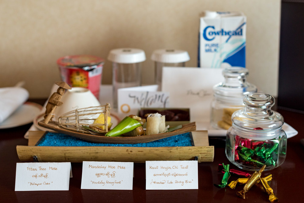 Welcome Amenities  Horizon Club Room - Sule Shangri-La, Yangon