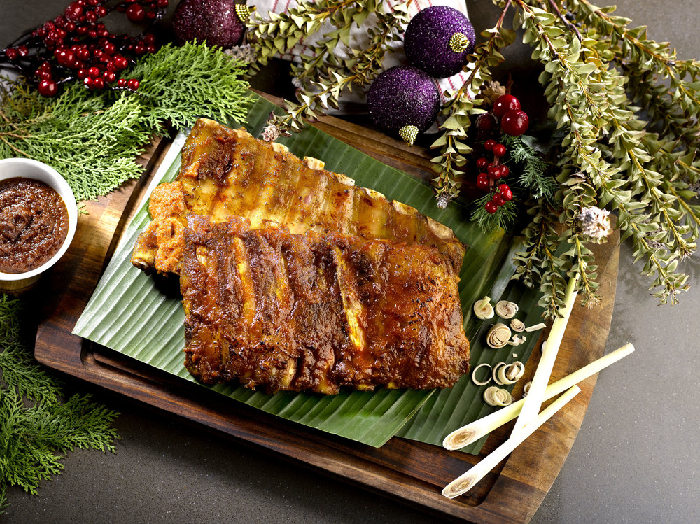 Satay-marinated Iberico Pork Rib | Photo Credit: Crowne Plaza Changi Airport