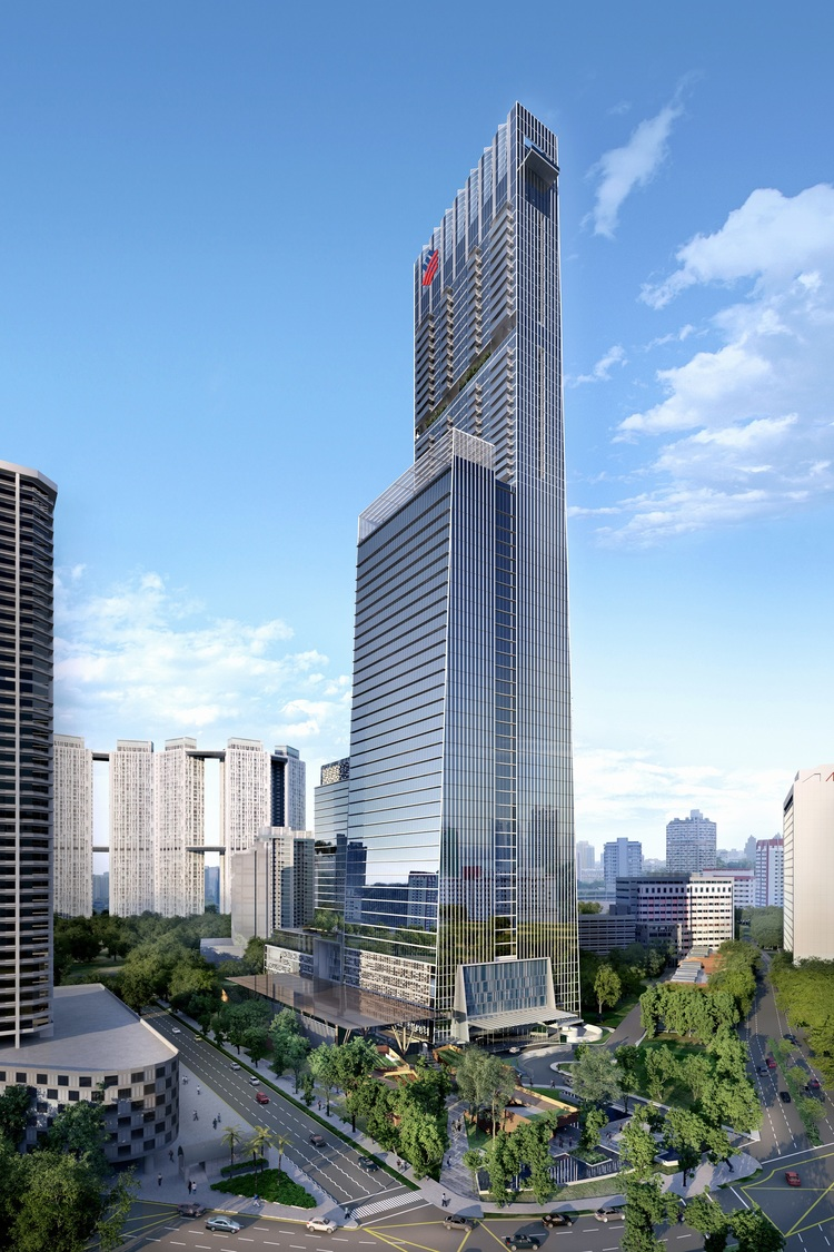 Artist Impression of Hotel Exterior | Photo Credit: Sofitel Singapore City Centre