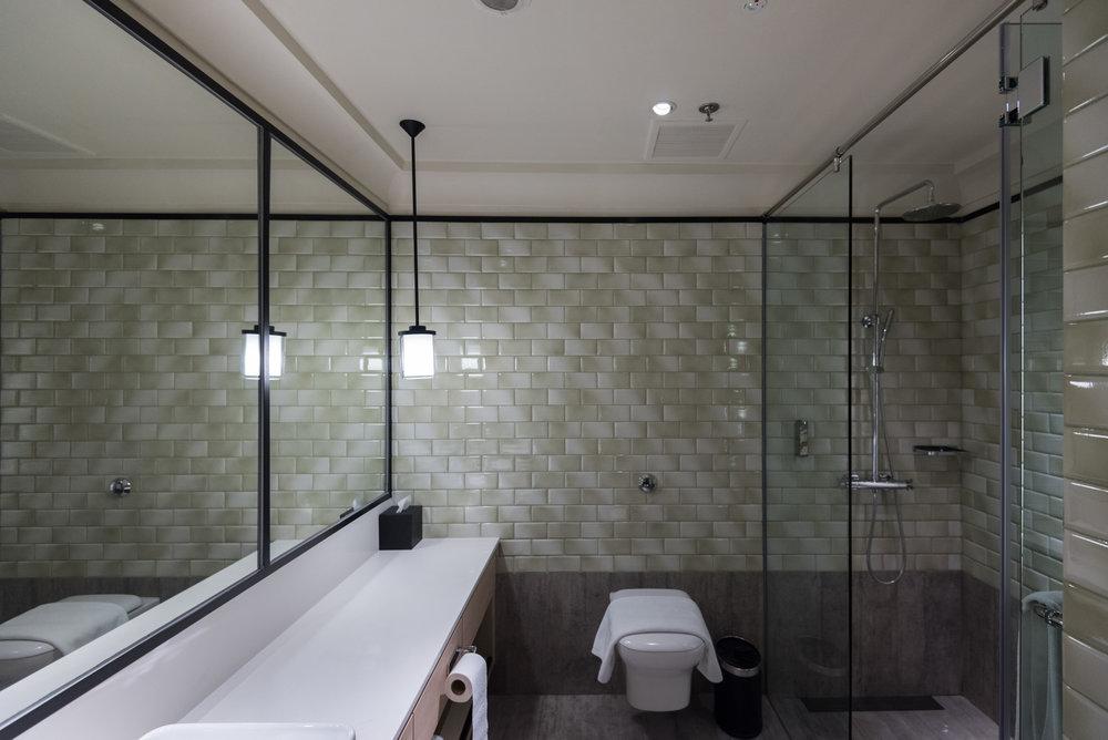 Ensuite Bathroom in M Room (Twin)  Aerotel Singapore - Changi Airport, Singapore