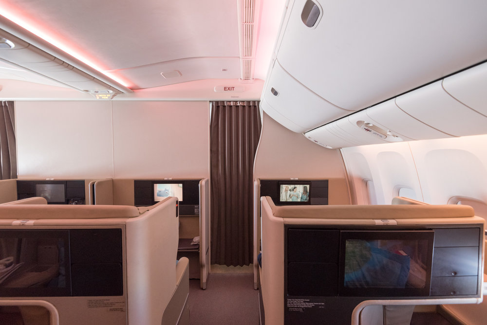 Cabin Layout (Rows 11 and 12)  Singapore Airlines Business Class 777-300ER - SQ632 (SIN-HND)