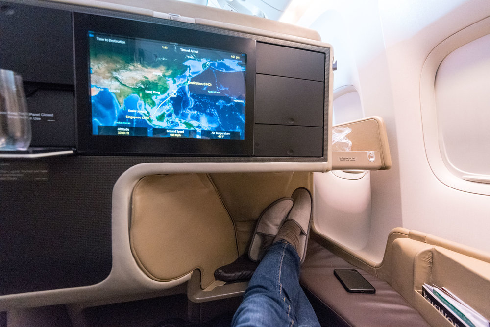 Amazing Legroom Singapore Airlines Business Class 777-300ER - SQ632 (SIN-HND)