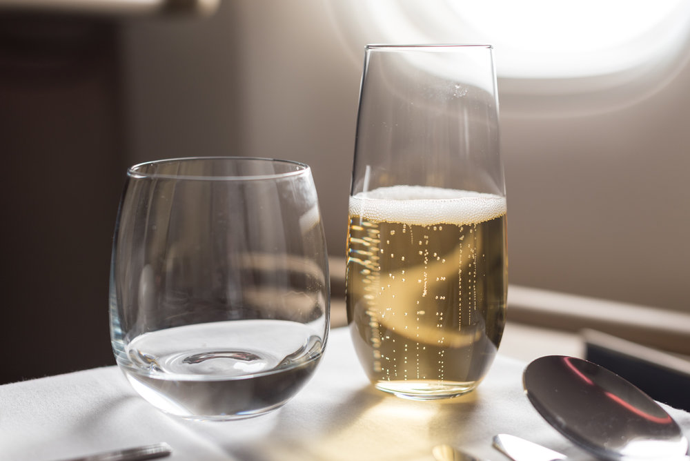 Charles Heidsieck Champagne  Singapore Airlines Business Class 777-300ER - SQ632 (SIN-HND)