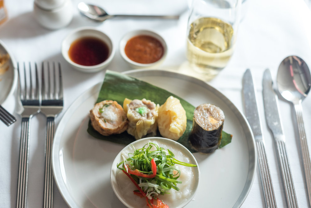 Breakfast Service - Dim Sum (Book the Cook)  Singapore Airlines Business Class 777-300ER - SQ632 (SIN-HND)