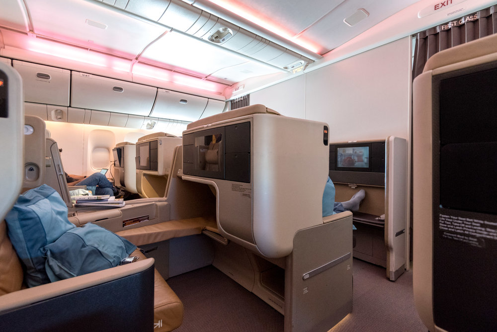 Trip report singapore airlines business class 777 300er for First cabin haneda