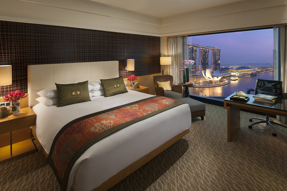 Marina Bay View Room | Photo Credit: Mandarin Oriental, Singapore