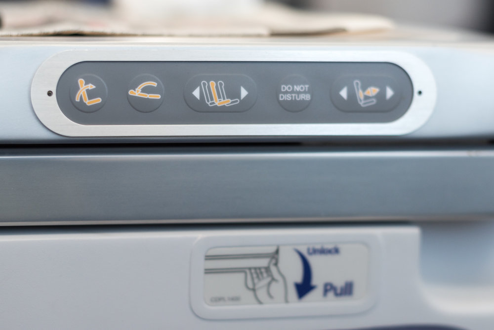 Seat Control Buttons ANA Business Class 787-900 - NH859 (HND-HKG)