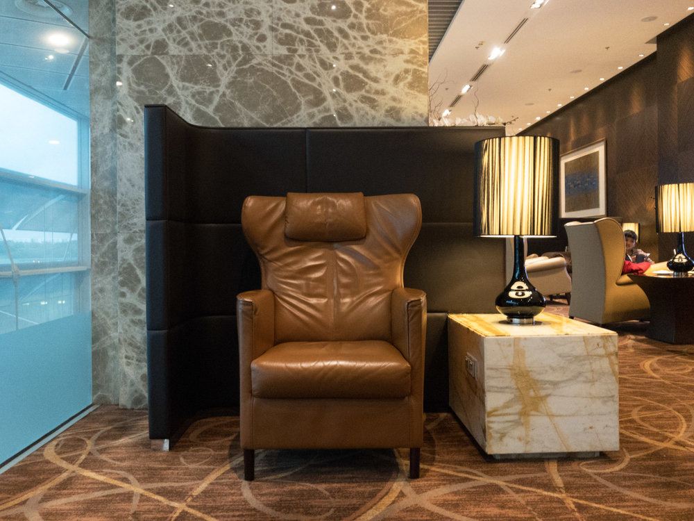 Individual Throne Seats  The Private Room by Singapore Airlines (Changi Airport)