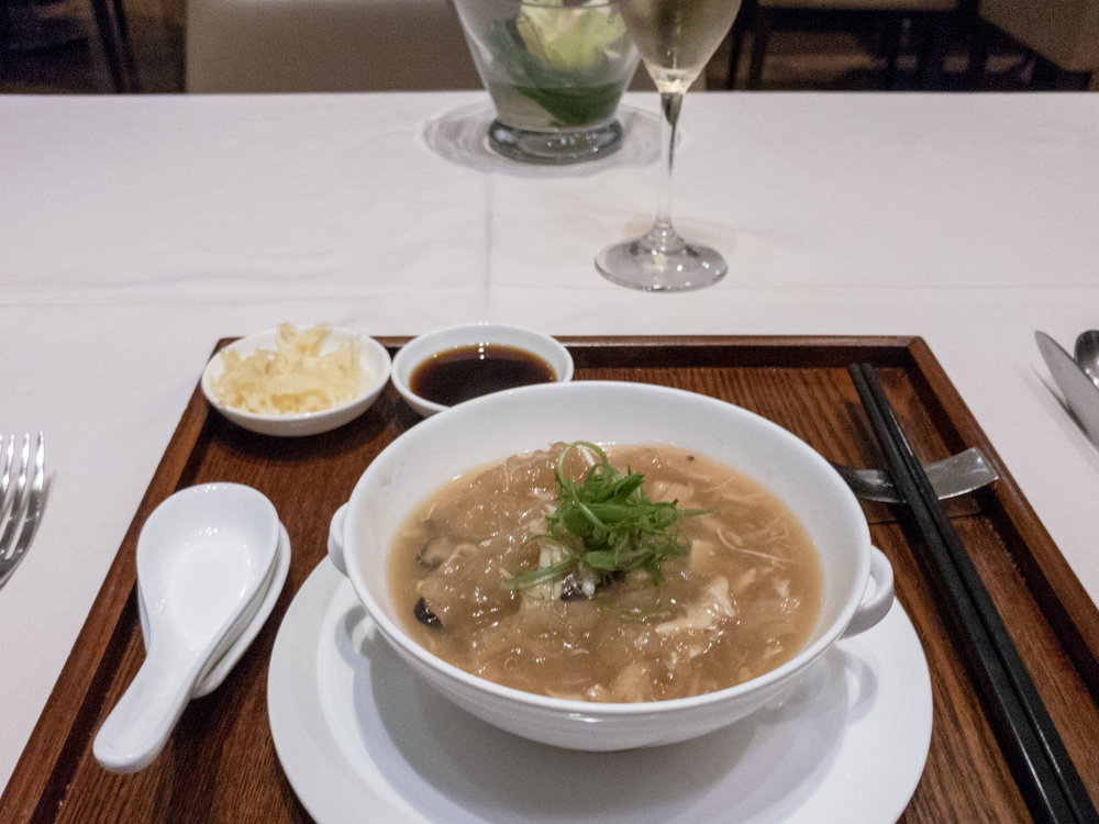 Fish Maw Soup    The Private Room by Singapore Airlines (Changi Airport)