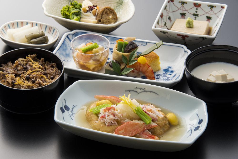 Menu developed by Takeshi Kikuchi, Head Chef, Tokyo Shiba Tofuya Ukai | Photo Credit: ANA