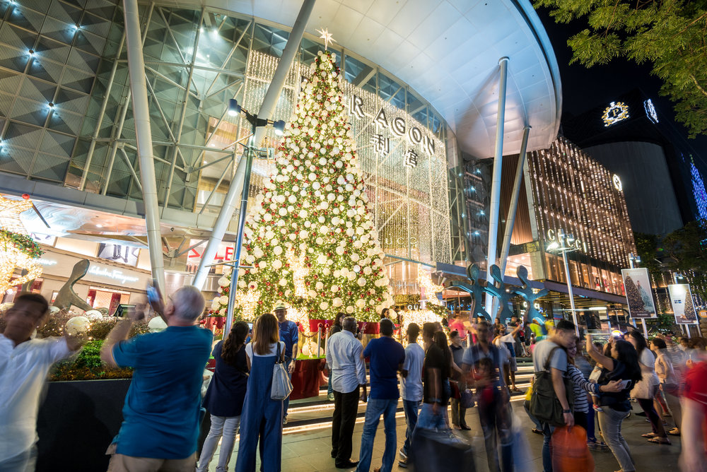 Christmas Light-up along Orchard Road 2016