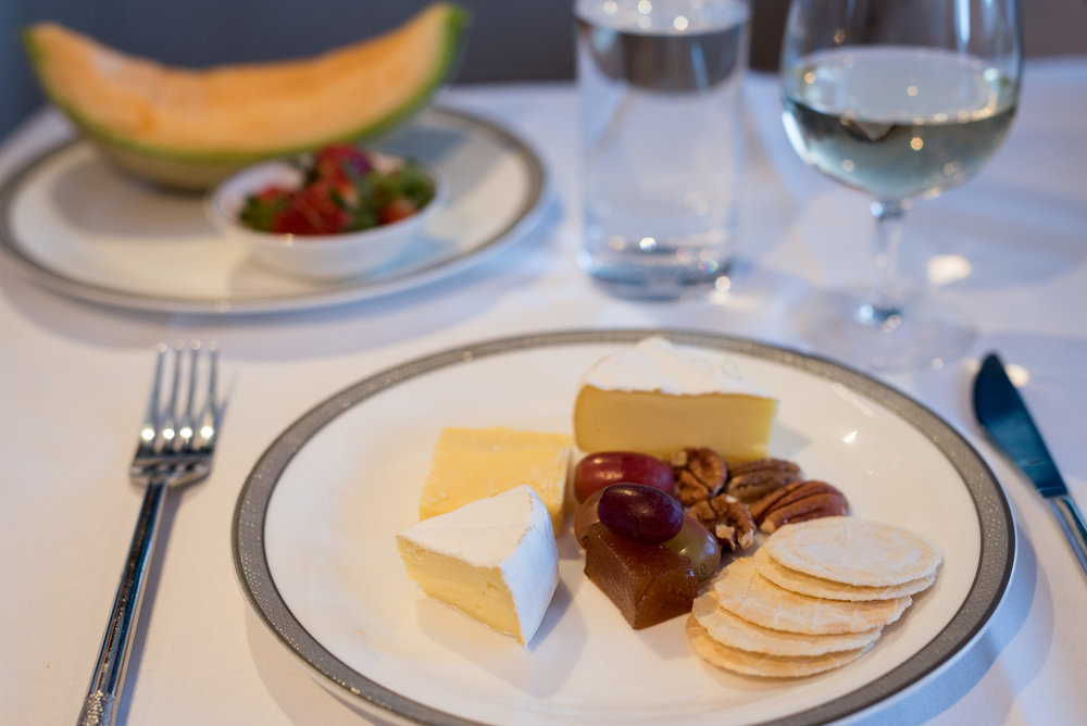 Selection of Cheeses - Lunch Service Singapore Airlines Suites A380-800 - AKL to SIN