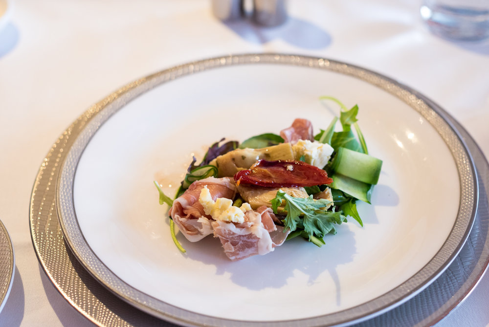 Tuttafetta Ham Salad - Light Dinner Service Singapore Airlines Suites A380-800 - AKL to SIN