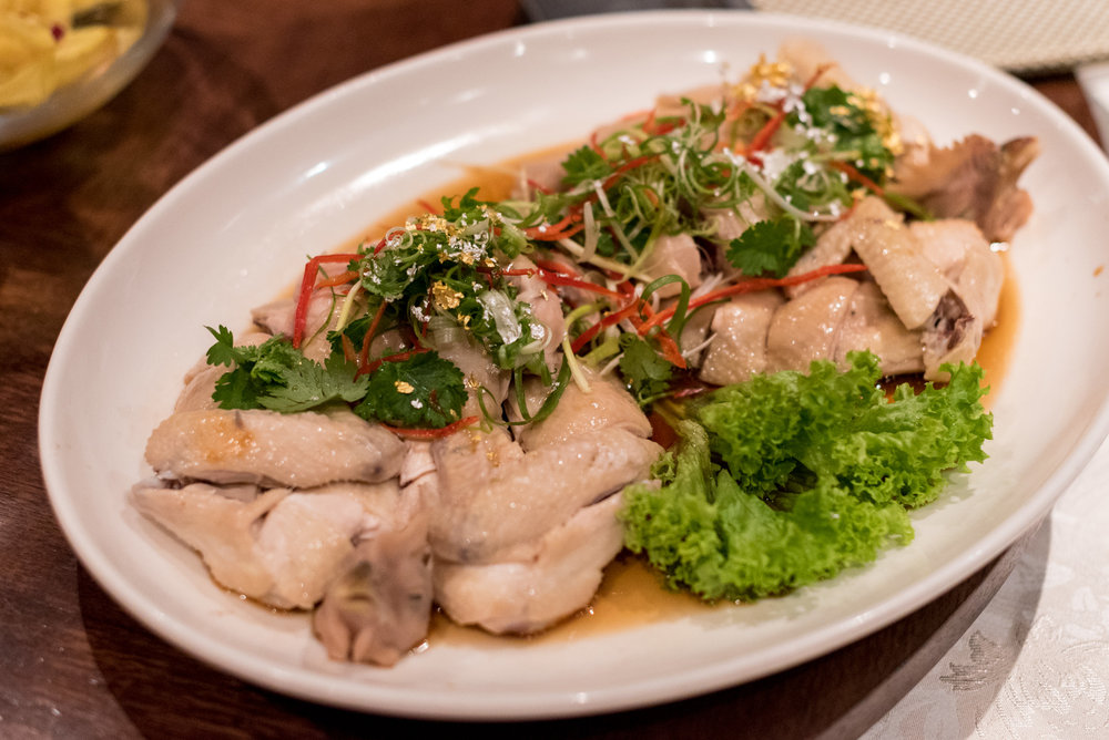 Steamed Farm Chicken with Minced Ginger  Hai Tien Lo - Pan Pacific Singapore