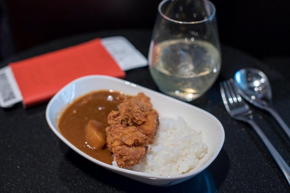 Japanese Curry - ANA Lounge  Haneda Airport (International Terminal)
