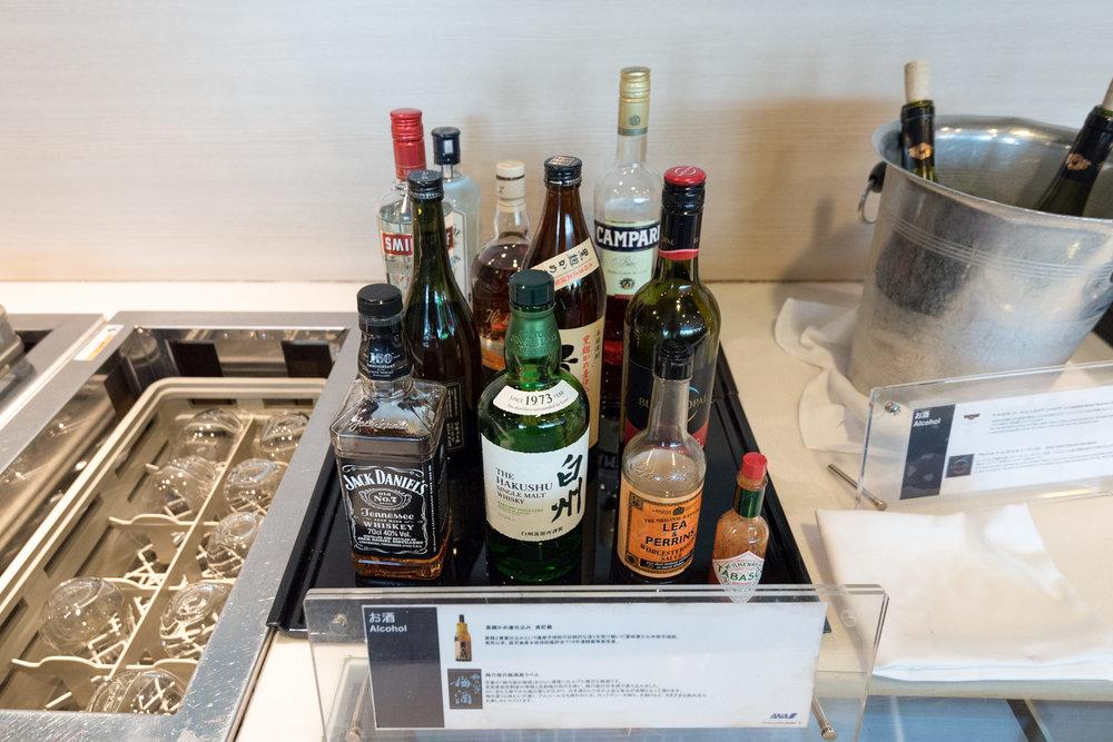 Liquor and Spirits - ANA Lounge  Haneda Airport (International Terminal)