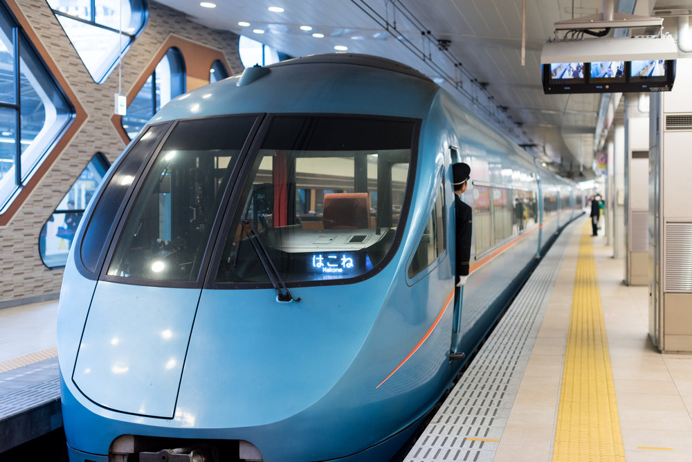 Romancecar (Limited Express) to Hakone-Yumoto Station from Shinjuku, Tokyo