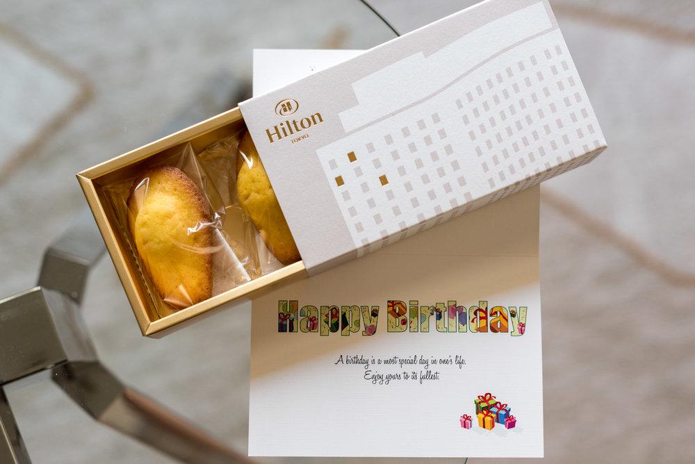 Birthday Card King Executive Room - Hilton Tokyo (Shinjuku)
