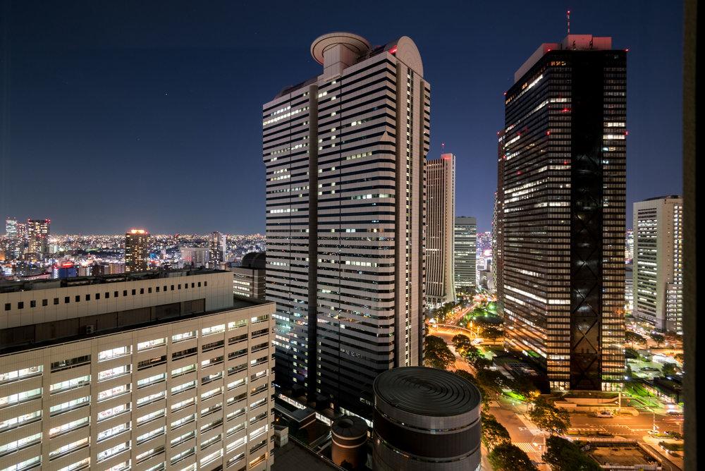 Night View from Bedroom King Executive Room - Hilton Tokyo (Shinjuku)