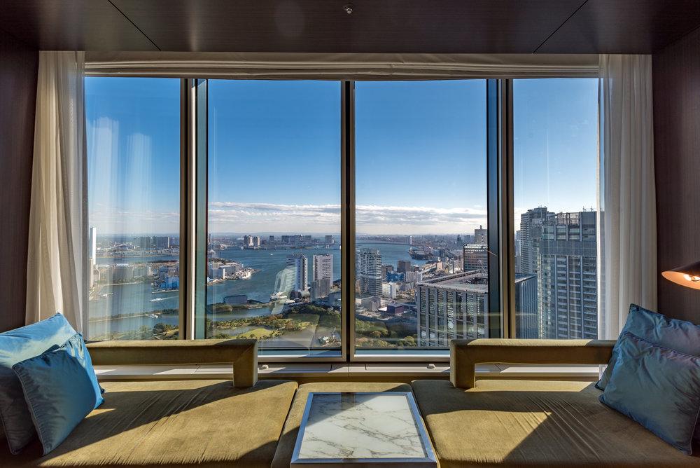View of Tokyo Bay  King Executive Room Bay View - Conrad Tokyo