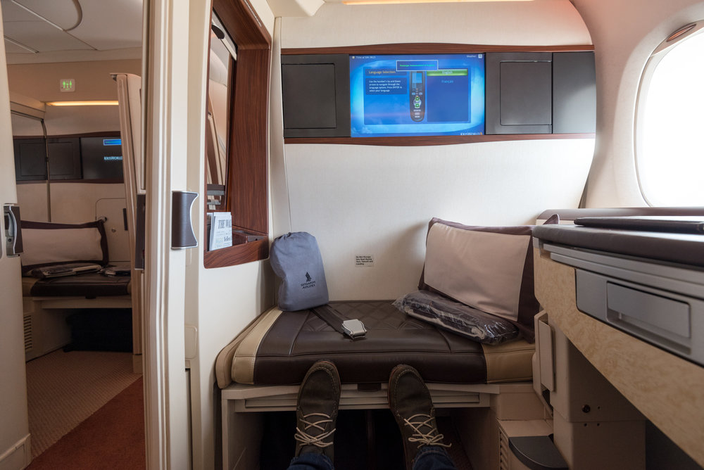 Suites on Singapore Airlines' A380