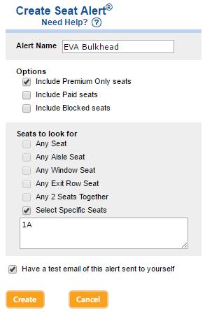 ExpertFlyer Seat Alert