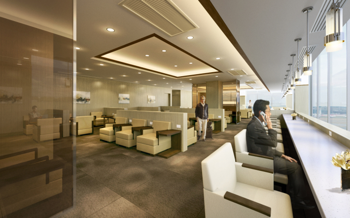 Bangkok Sakura Lounge | Photo Credit: Japan Airlines