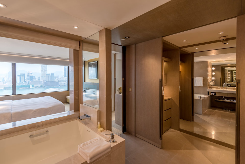 Bathroom with Walk-in Wardrobe  Victoria Harbour Suite - Grand Hyatt Hong Kong