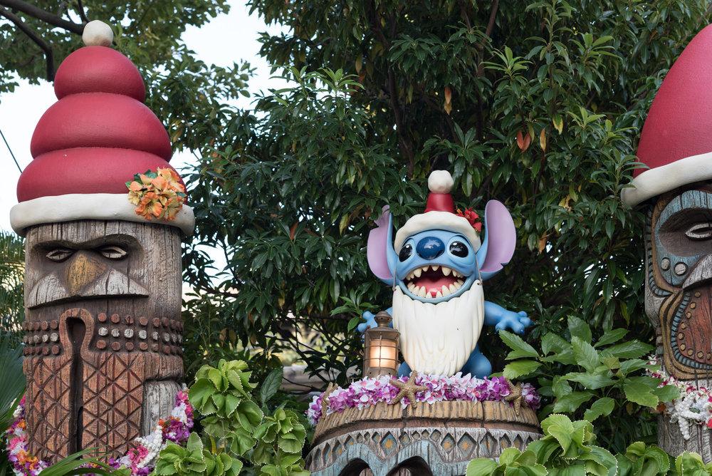 Stitch celebrating Christmas  Tokyo Disneyland