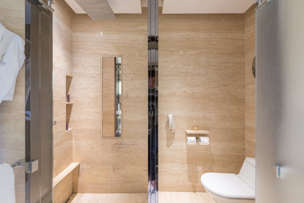 Double Rainshower And Toilet Club Deluxe Victoria Harbour Room   The Ritz  Carlton, Hong