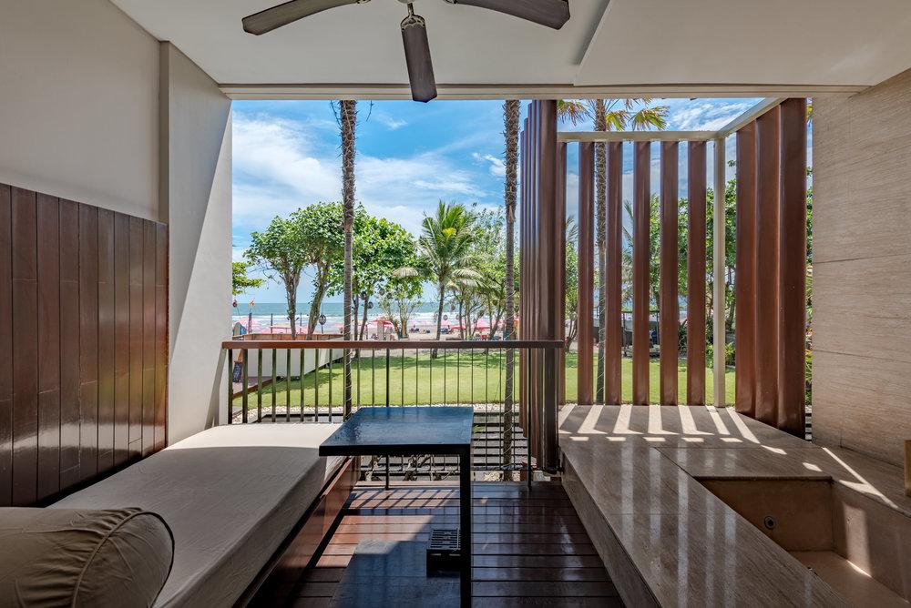 Private Terrace and Balcony Anantara Ocean Suite - Anantara Seminyak Bali Resort