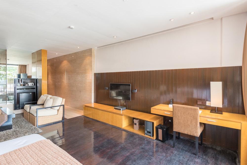 Work Desk and Entertainment Anantara Ocean Suite - Anantara Seminyak Bali Resort