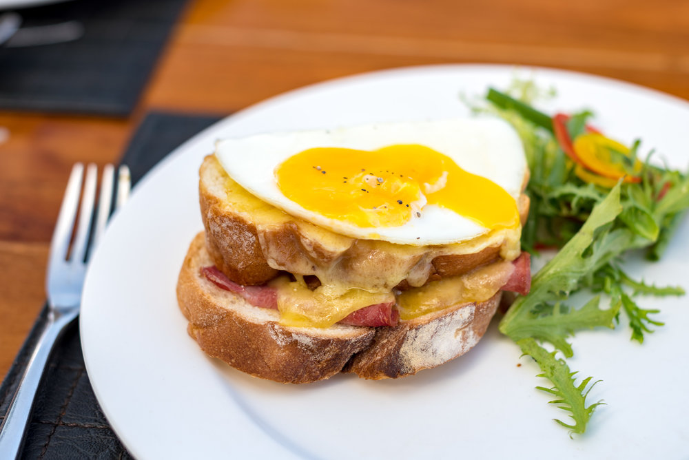 Croque-Madame - Breakfast Buffet MoonLite Kitchen and Bar - Anantara Seminyak Bali Resort