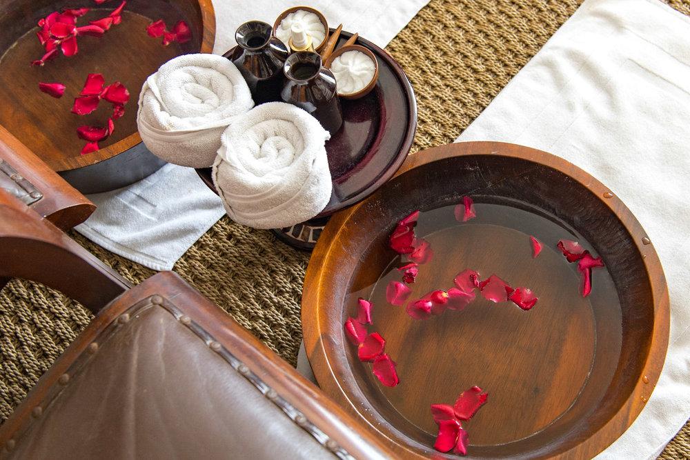 Floral Foot Ritual - Island of Java Journey Anantara Spa - Anantara Seminyak Bali Resort