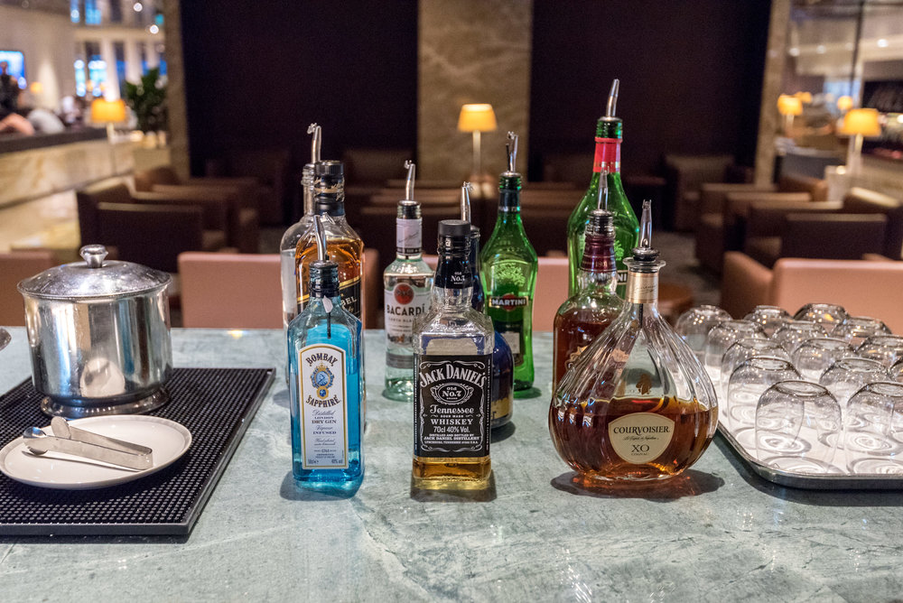 Liquor and Spirits  SilverKris Business Lounge (Terminal 3) - Singapore Changi Airport
